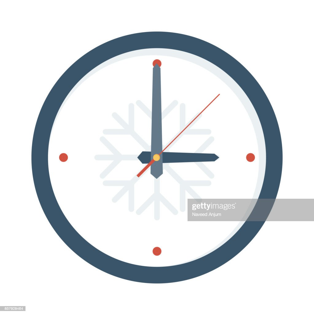 Clock Flat Vector Icon