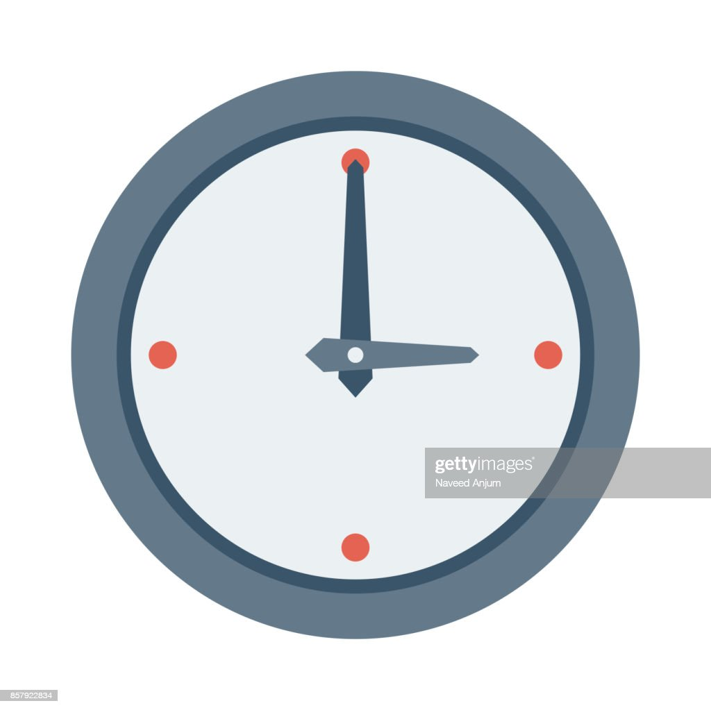 clock Flat Vector Icons