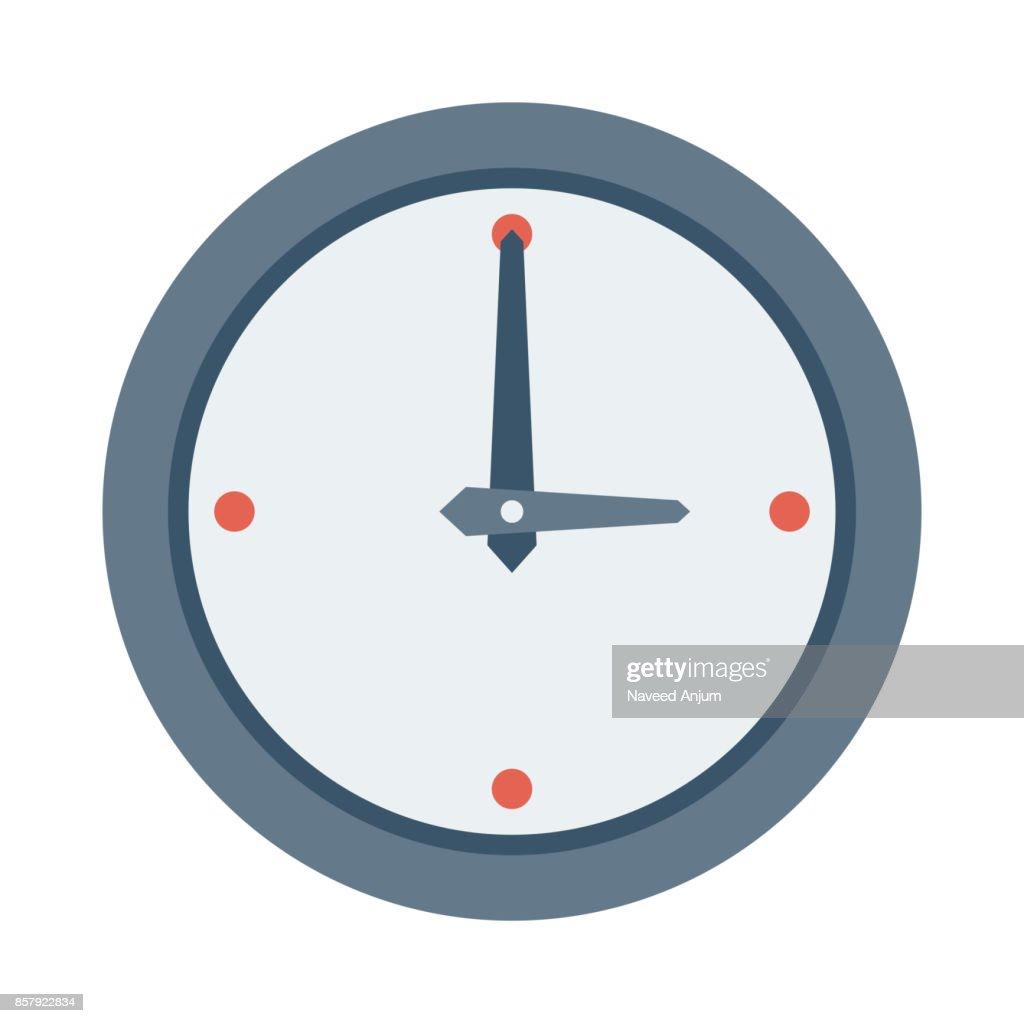clock Flat Vector Icons
