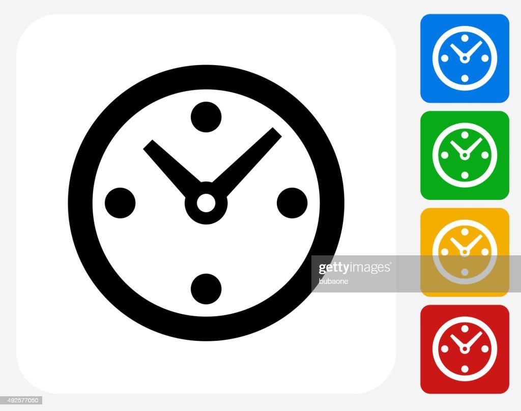 Clock Icon Flat Graphic Design