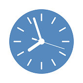Clock icon in blue circle