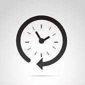 Clock icon isolated on white background.