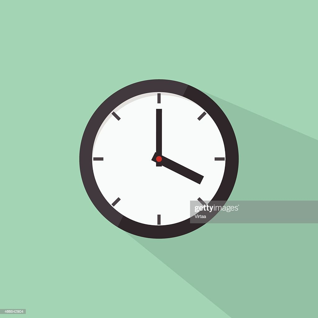 Clock icon, modern flat design style. Watch vector illustration