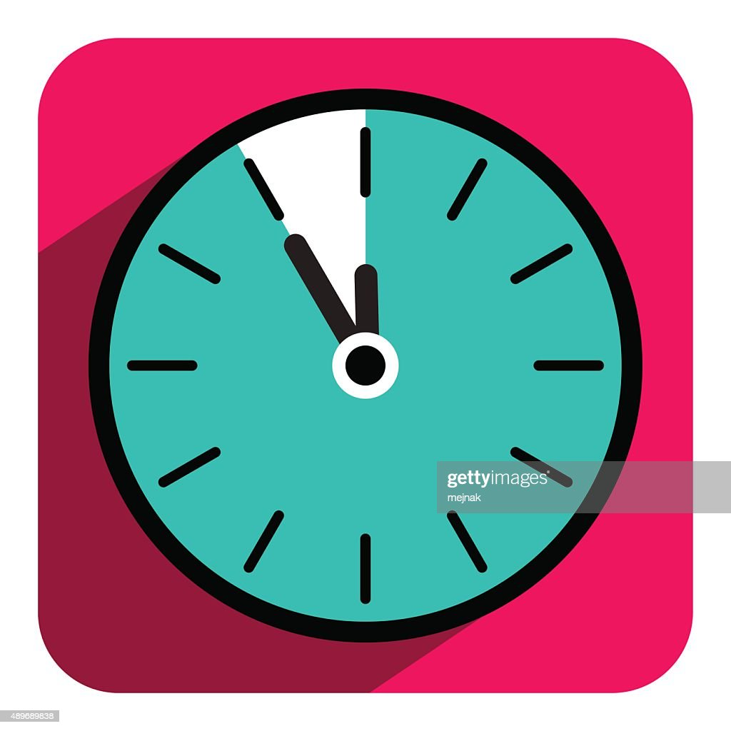 Clock Icon with Five to Twelve Time