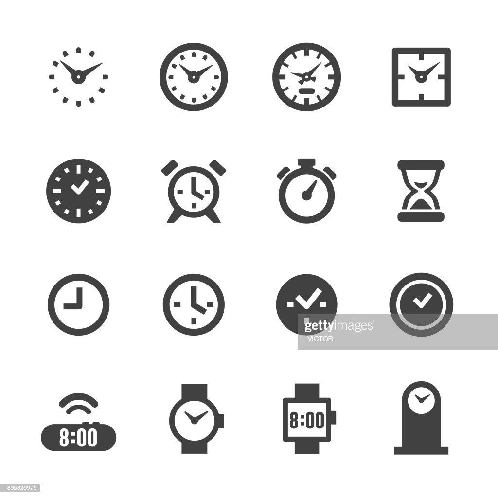 Clock Icons - Acme Series