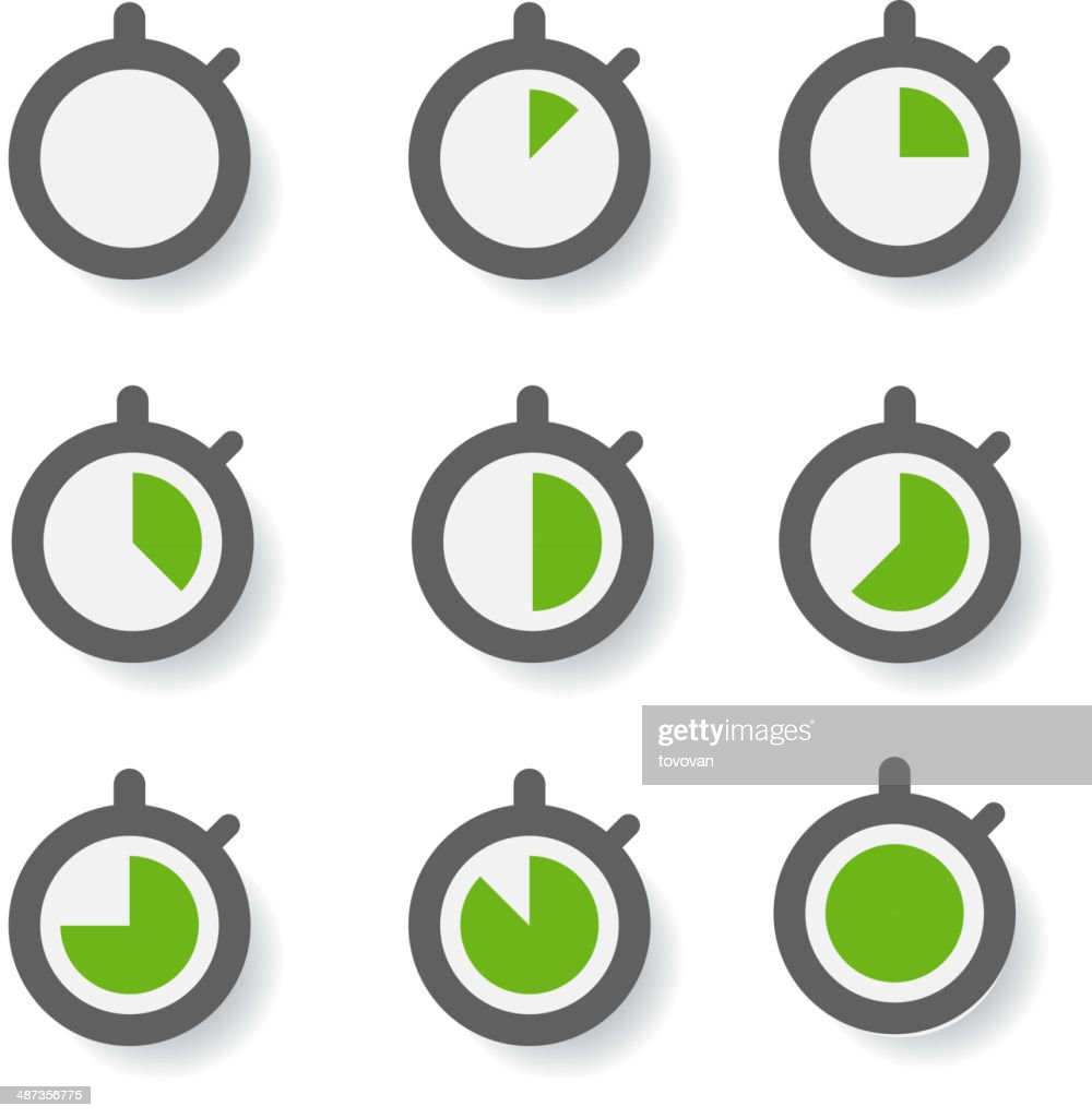 Clock icons collection. Design elements