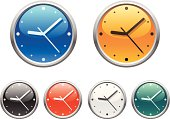Clock icons. Part two