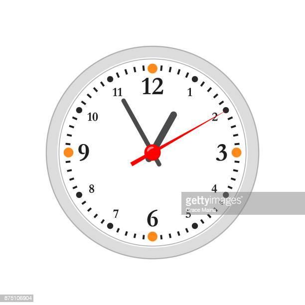 Clock illustration Flat Design - Vector