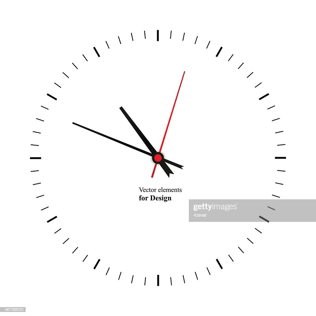 Clock image on white background