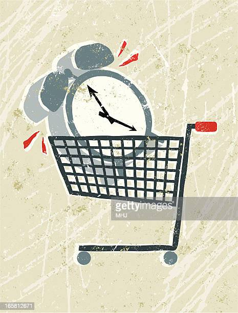 Clock in a Shopping Trolley