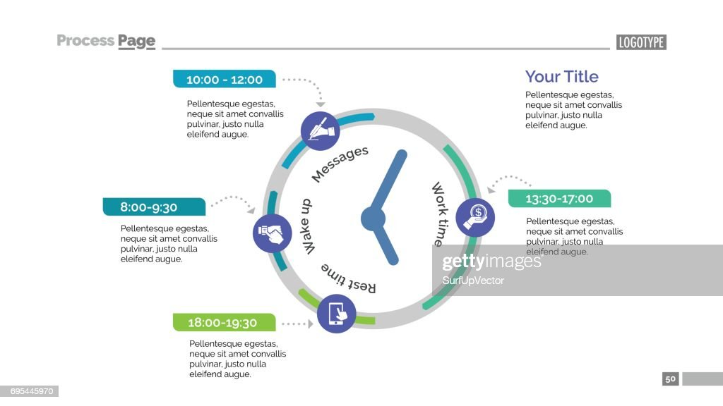 Clock Infographic Diagram Slide Template Vector Art | Getty Images