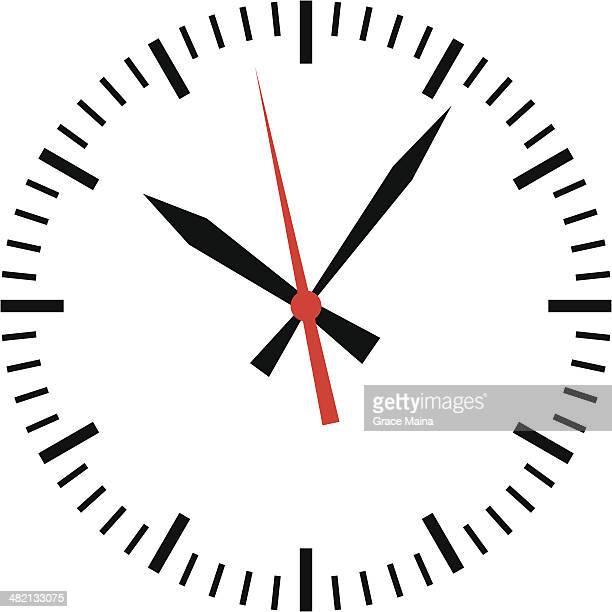 ilustrações, clipart, desenhos animados e ícones de relógio com tempo-vetor - ponteiro grande
