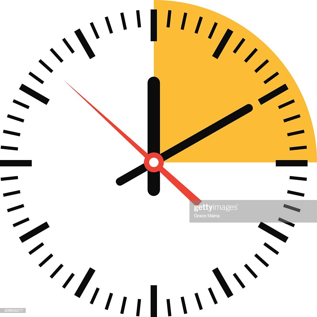 Clock showing time - VECTOR