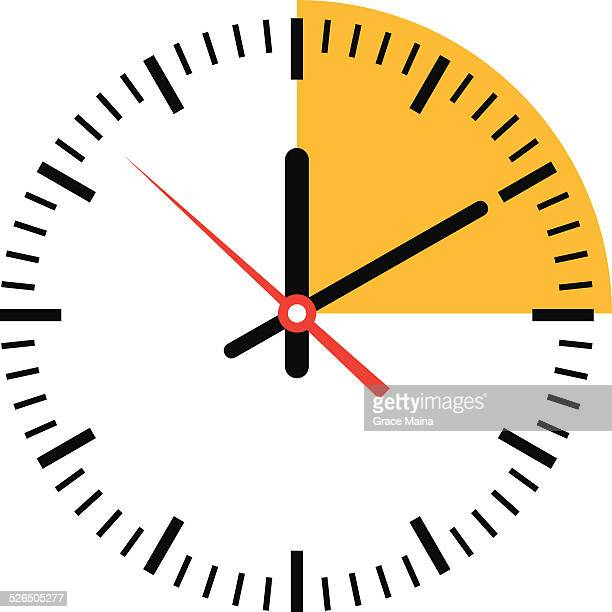stockillustraties, clipart, cartoons en iconen met clock showing time - vector - klok