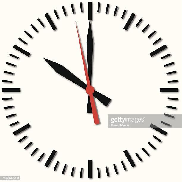 60点の時計の文字盤のイラスト素材クリップアート素材マンガ