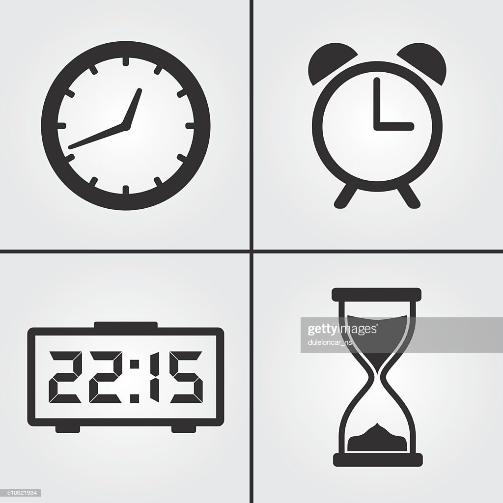 Clock Time Icons