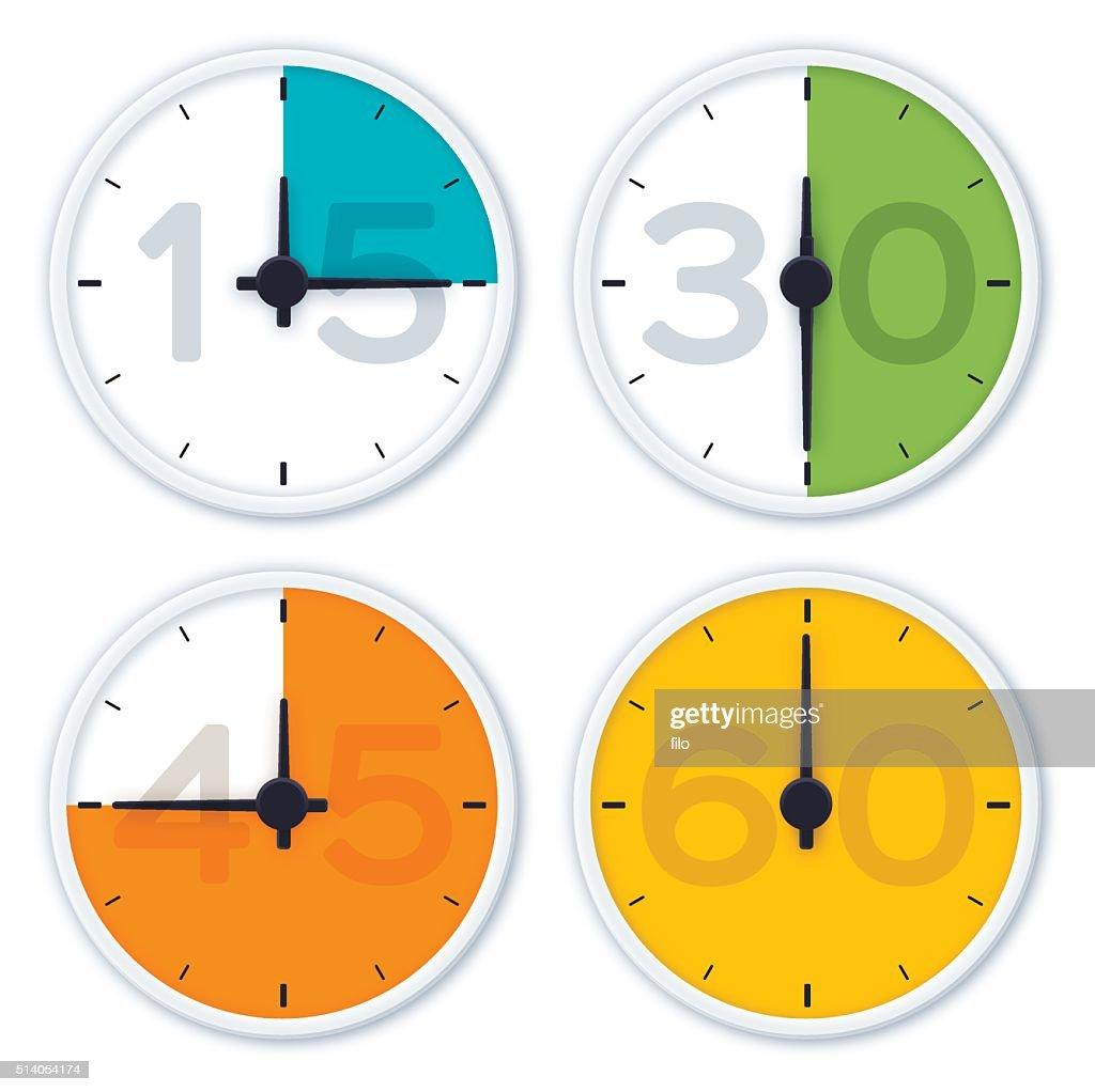Clock Time Symbols : stock illustration
