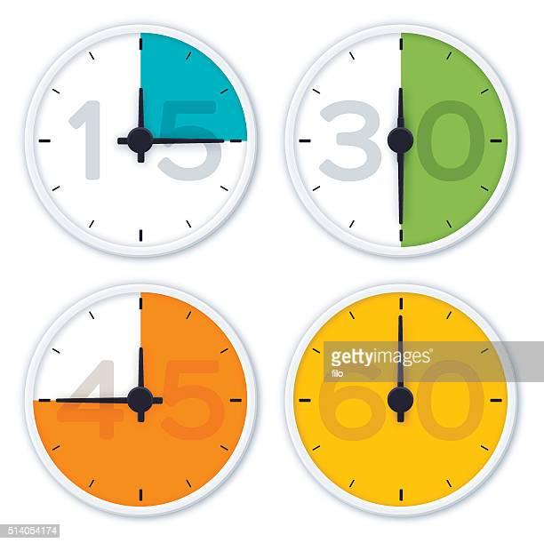 ilustrações, clipart, desenhos animados e ícones de relógio de tempo símbolos - cronômetro instrumento para medir o tempo