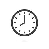 Clock vector icon isolated