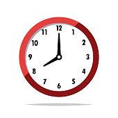 Clock vector isolated illustration