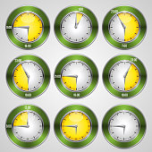 Clock with time stamp set