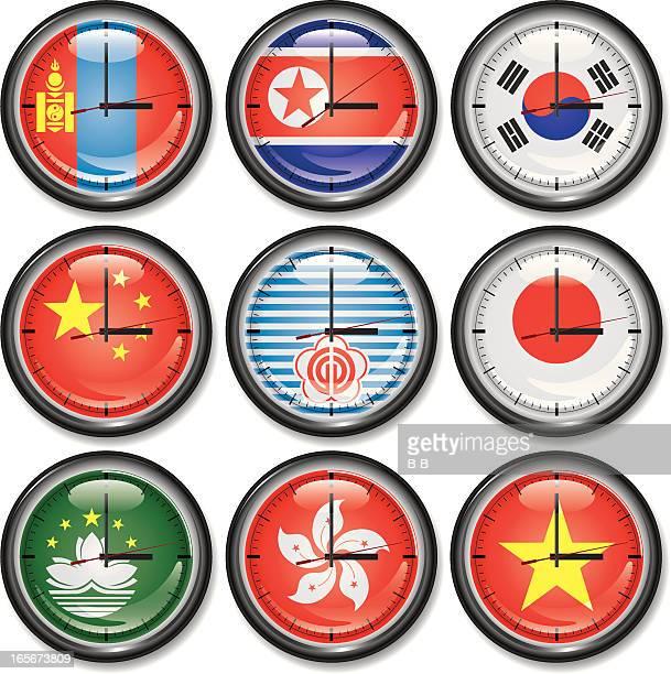 Clocks-East Asia