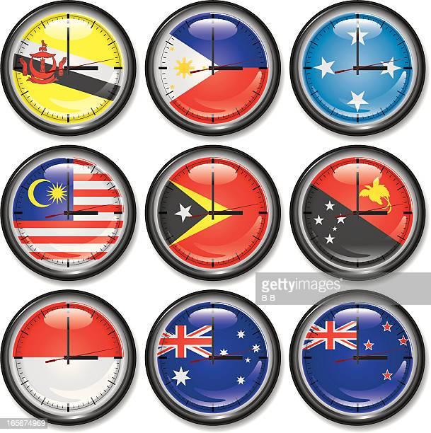 Clocks-East Asia,Oceania