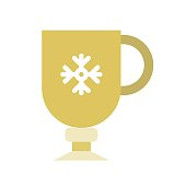 clod beverage cup. cute christmas and winter related set,flat design suitable for use as material