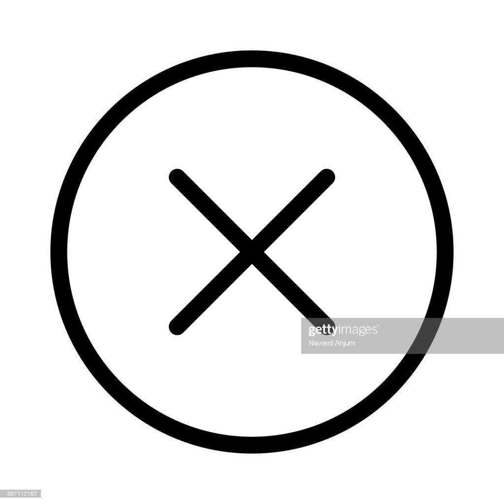 Close Thin Line Vector Icon