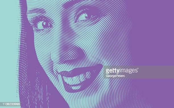 close up of a young woman's smile - natural condition stock illustrations, clip art, cartoons, & icons