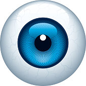 Close up of blue eyeball image