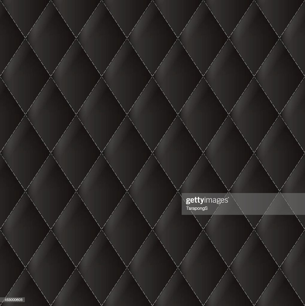 A close up of Diamond black leather upholstery