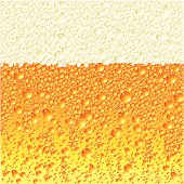 Close up of digital beer bubble illustration