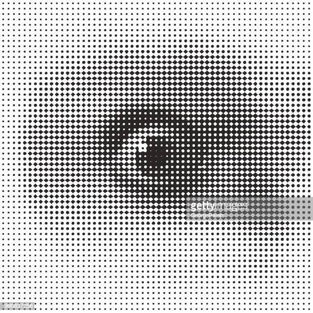 close up of eye with shocked expression - security camera stock illustrations