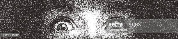 Close up of one woman's eyes