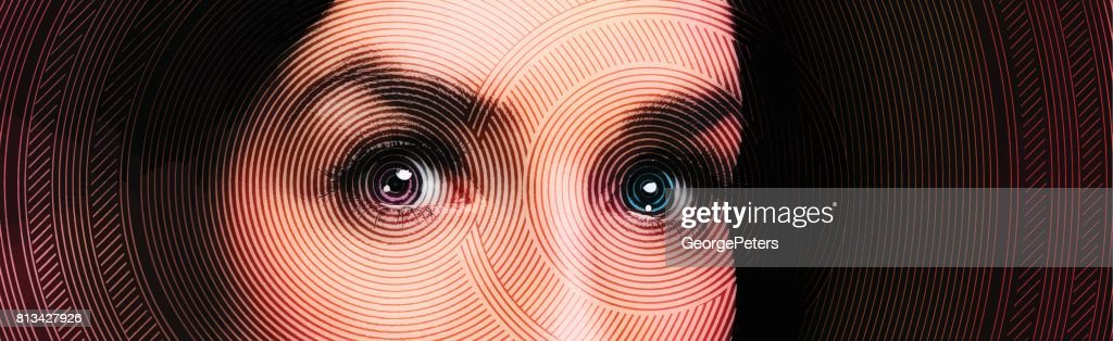Close up of one woman's eyes : stock illustration