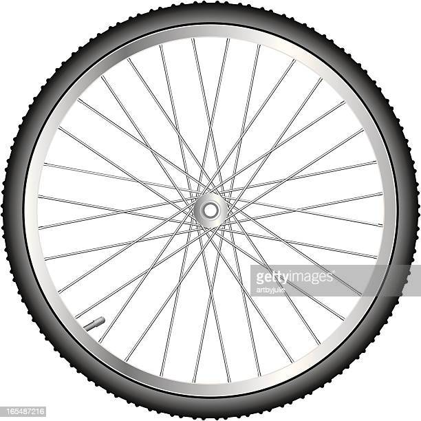 close up of the spokes on a bicycle wheel - air valve stock illustrations, clip art, cartoons, & icons