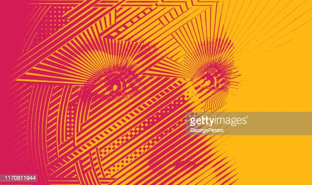 close up of woman's eyes with hopeful expression - hope stock illustrations
