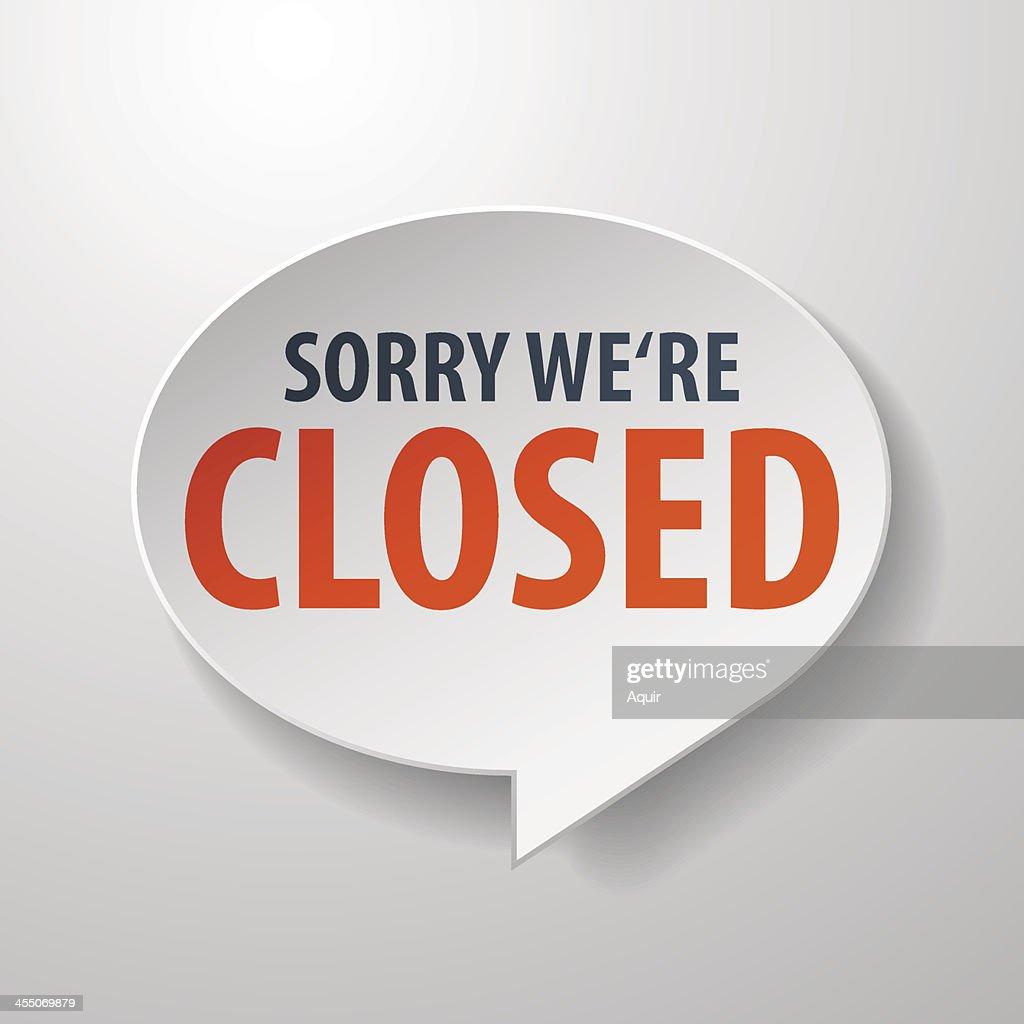 closed 3d Speech Bubble