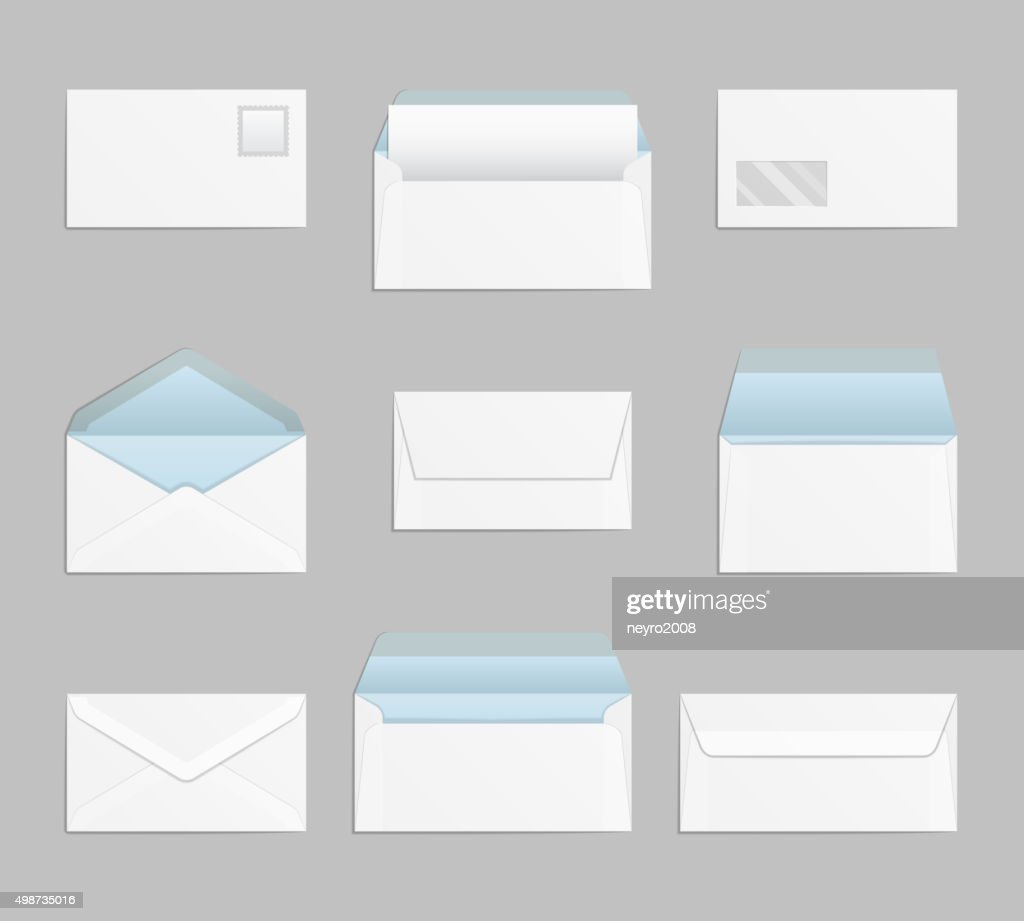 Closed and open envelopes vector set