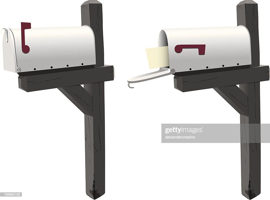 Closed And Open Mailboxes Vector Art Getty Images