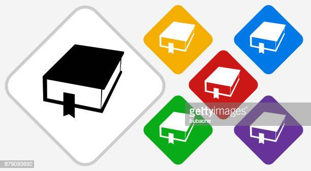 closed book color diamond vector icon - closed stock illustrations, clip art, cartoons, & icons