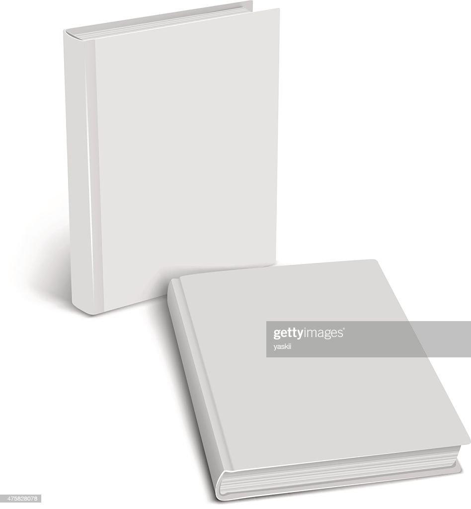Closed book mockup. Empty cover.
