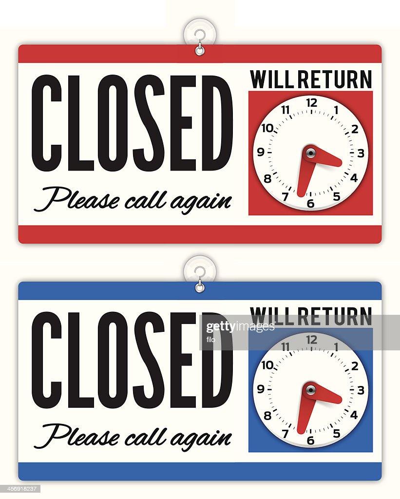 Closed Sign : stock illustration