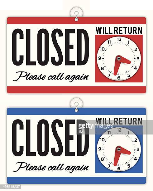 closed sign - closing stock illustrations, clip art, cartoons, & icons