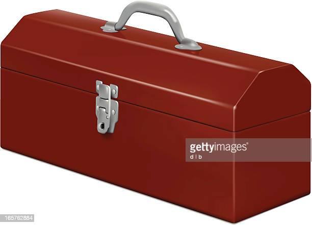 ilustraciones, imágenes clip art, dibujos animados e iconos de stock de cerrado caja de herramientas - caja de herramientas