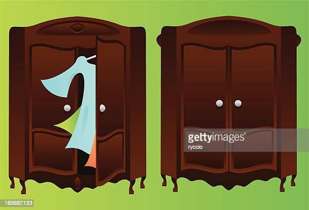 Closet, open and closed