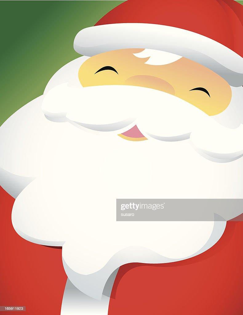 Closeup Happy Santa Face : stock illustration