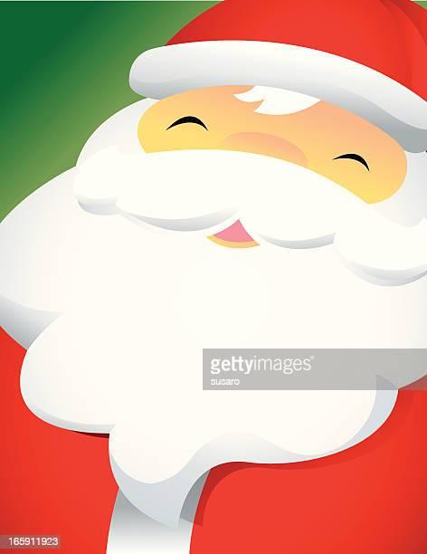 Closeup Happy Santa Face