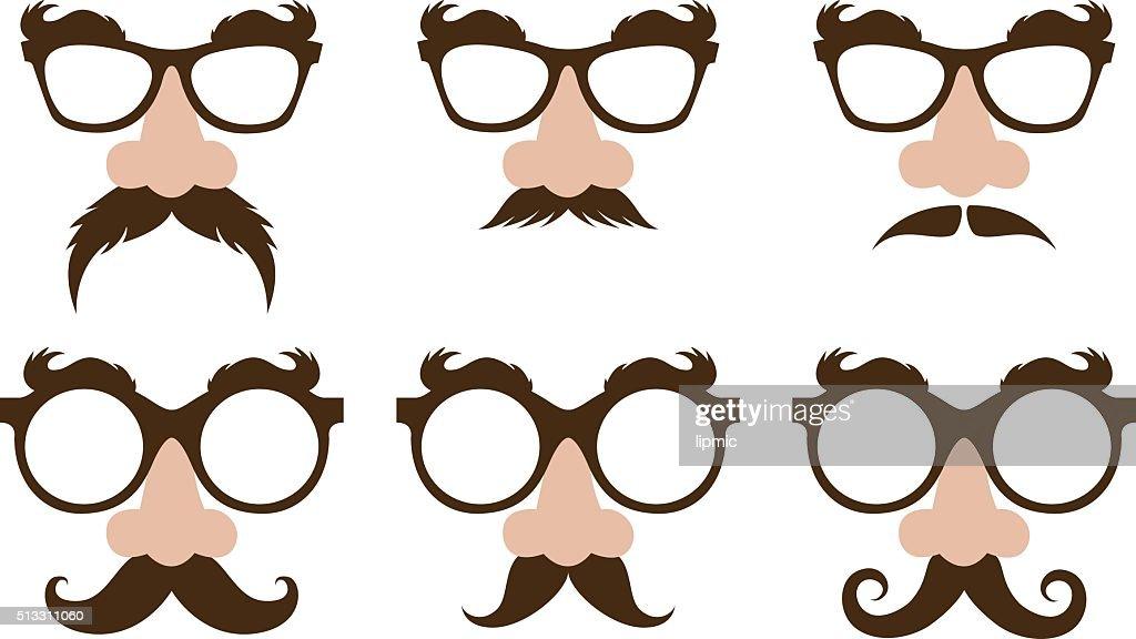 closeup of a fake nose and glasses